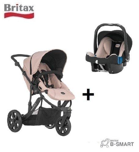 Britax B-Smart - Carrito de 3 ruedas (incluye silla de coche Baby Safe SHR II), color beige: Amazon.es: Bebé