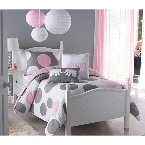 - VCNY Parade Twin Comforter Set, Pink, 2-Piece