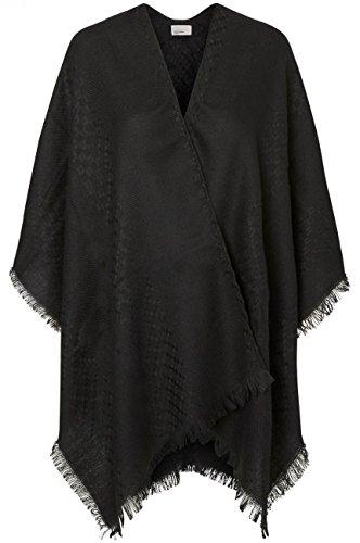Noos Vero Nero Moda black solid Donna Detail Vmasta Poncho qr6rw