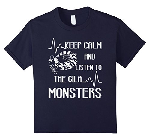 Gila Girl (Kids Keep Calm And Listen To The Gila Monster T shirts 10 Navy)