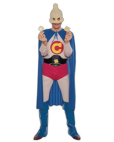 (Captain Condom Costume - Standard - Chest Size up to)