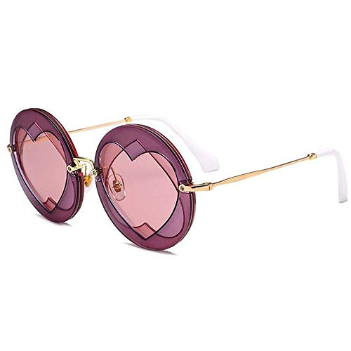 Jiecafy Sunglasses, New Girls Series Trend Fashion Double Heart Overlap Love Sunglasses,Pink