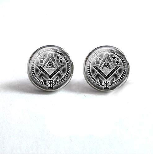 6ecf10b84caa3 Amazon.com: Freemason Masonic Earring, Glass Jewelry Earrings: Arts ...