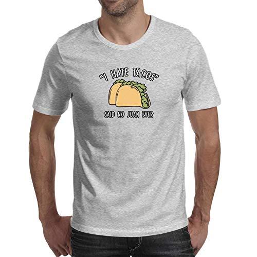 RTEFTGFH Short Sleeve Man's I Hate Tacos - Said No Juan Ever Tops Vintage Shirts