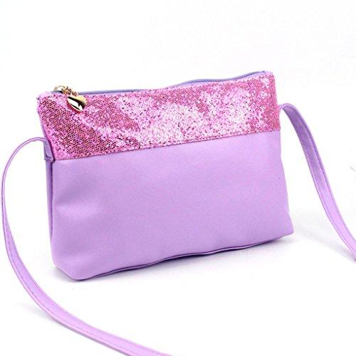 Jamicy® Donne moda Ladies Large Tote borsa a tracolla della borsa (Viola)