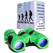 Childrens Binoculars for Bird Watching - High Resolution 8x21 - Drop Proof Binocular Set - Girls and Boys Age 3 to 10 - Birthday Present for Kids - Hunting, Camping, Hiking, Outside Play - Dreamskope
