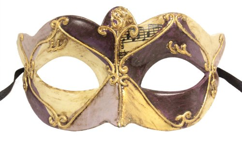 (RedSkyTrader Womens Vintage Look Venetian Mask One Size Fits Most Purple)