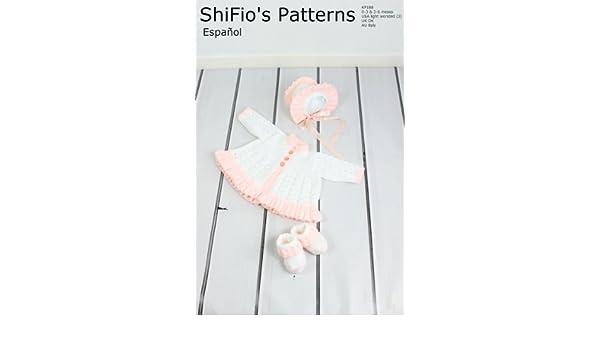 patrón para dos agujas - KP188 - chaqueta matinée, sombrero y botitas/patucos para bebé (Spanish Edition) - Kindle edition by shifio patterns.