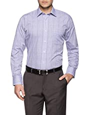 Van Heusen Classic Relaxed Fit Business Shirt, Blue