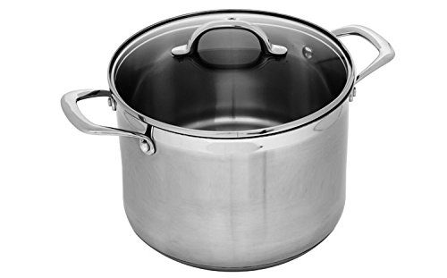 Swiss Stock - Swiss Diamond Premium PSL31724i Stainless Stock Pot with Lid, 8 quart/9.5