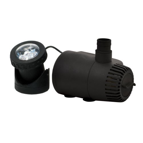 TotalPond 400 GPH Low Water Shut-Off Fountain Pump with Light