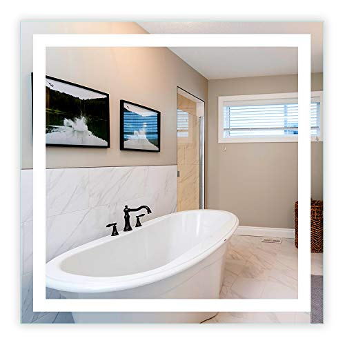 (LED Front-Lighted Bathroom Vanity Mirror: 48