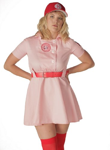 [A League of Their Own Rockford Peaches AAGPBL Baseball Womens Costume Dress (XXL DELUXE)] (Plus Size Baseball Girl Costume)