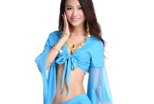 Crystal Belly Dance Costumes - ZLTdream Lady's Belly Dance Mesh Bandage