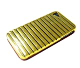 Limited Luxury Cases IPH3701-4 Glossy Window-Blind Design Hardshell for iPhone 4/4S - 1 Pack - Retail Packaging - Gold