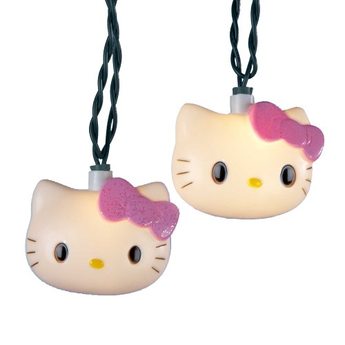 Kurt Adler HK9803 Hello Kitty Light Set, 10 Light