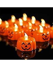YIWER Te-lampor, LED-ljus flimrande flamlösa ljus, realistiskt batteridrivet falskt ljus med varm Whtie-glödlampa för halloween dekoration, festivaler, bröllop etc
