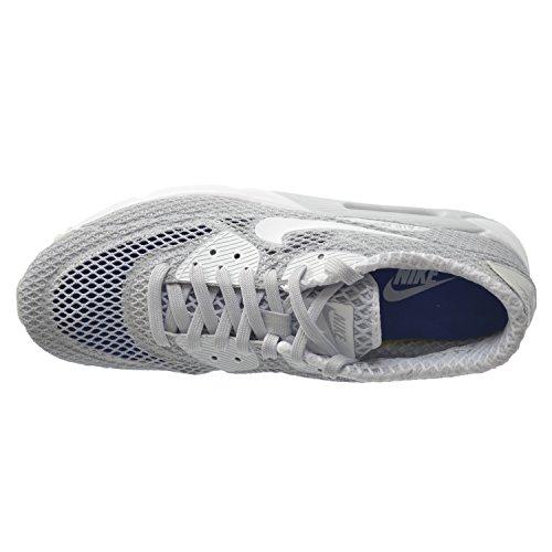 Nike Air Max 90 Ultra Br Plus Qs Mens Scarpe Da Corsa Platino / Bianco-blu 810170-001