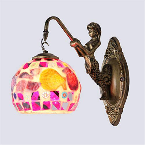 Mediterranean Style Decoration Turkish Mosaic Lamps Handmade Stained Glass Sconces Antique Wall Lights for Home Lighting Green