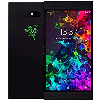 Razer Phone 2 (New): Unlocked Gaming Smartphone - 120Hz QHD Display - Snapdragon 845 - Wireless Charging - Chroma - 8GB RAM - 64GB - Satin Black