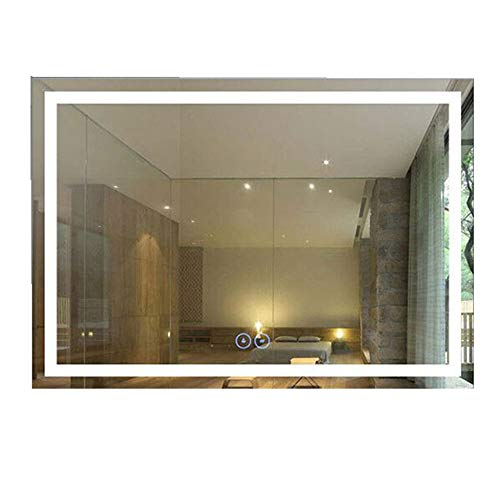 Decoraport 40 x 28 in Horizontal LED Bathroom Mirror with Anti-Fog Function (DK-A-CK010-W4)