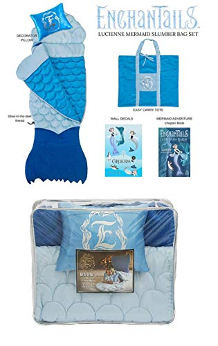 (The Original Mermaid Tail Sleeping Bag by ShopEnchantails: Lucienne Mermaid Deluxe 5 Piece Set)