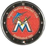 MLB Miami Marlins Chrome Clock