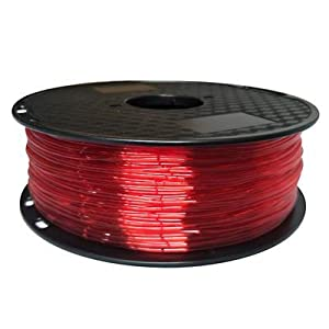 Tonglingusl tpu 3d filament flexible soft 3d printing material filament flex 1.75mm printer modeling (color : 1kg tran red, size : free)