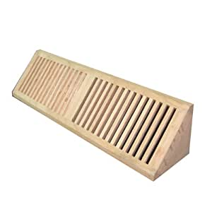Welland 24 Inch Hickory Hardwood Vent Baseboard Diffuser Wall Register Unfinished