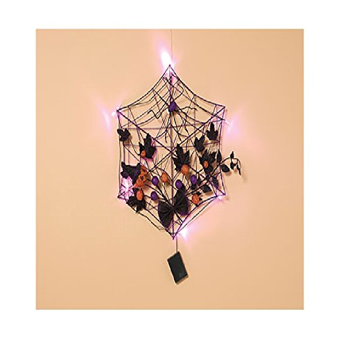Outdoor Lighted Spider Web - 8