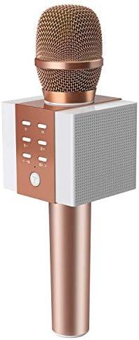 TOSING 008 Micrófono de Karaoke Inalámbrico Bluetooth, Potencia de Volumen Más Alta 10W, Más Bajo, 3-en-1 Máquina de Micrófono Portátil de Altavoz Portátil para iPhone/Android/iPad/PC (rose gold): Amazon.es: Instrumentos musicales
