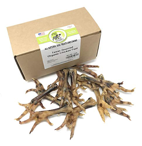 Sancho & Lola's Dehydrated Chicken Feet for Dogs – Organic Texas-Sourced Sustainably-Raised 12 Count Human-Grade USA Made Dog Chews Collagen, Glucosamine & Chondroitin – Raw Diet Approved