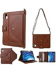 iPad Mini 8.3'' 2021 Case, TWBOCV Premium PU Leather Wallet Smart Case with Pen Holder Card Slots Pocket Auto Wake Sleep Folio Kickstand Cover for iPad Mini 6 8.3inch (Brown)