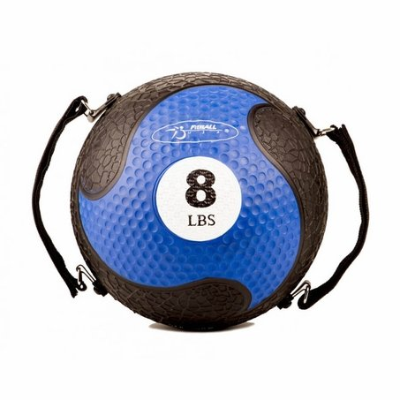 FitBALL MedBalls with Straps - 8 lb - Blue