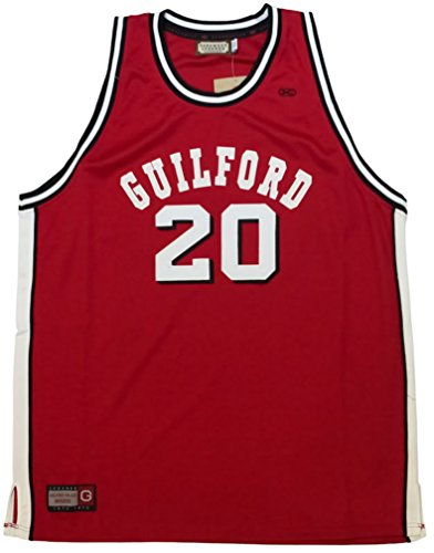 World B. Free Guilford College Quakers Authentic Throwback Retro Jersey (3XL)