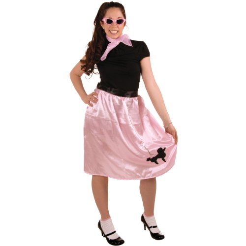 Lewis Black Halloween Costumes (Poodle Skirt (pink w/black poodle) Party Accessory  (1 count))