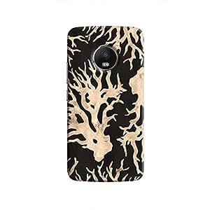 Cover It Up - Black Gold Nature Print Moto G5 Hard Case