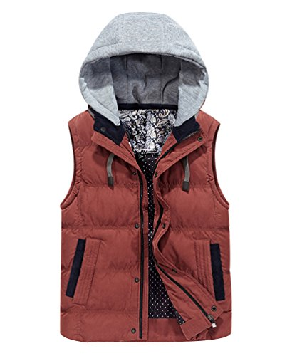 With Fit Bodywarmer Hooded Pockets Puffer Gilet Warmer Sleeveless With Puffa Gilets Vest Bubble Quilted Thicken Slim Body Orange Winter Hood Jacket Jackets Padded Sport Mens Removable Bodywarmers 6CqwP7q
