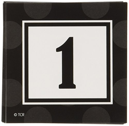 Teacher Created Resources Black Sassy Solids Double-Sided Calendar Cards