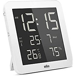 Braun Digital Global Radio Controlled Wall/Desk Clock White