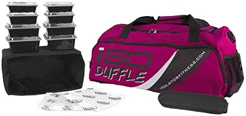 Amazon.com: Meal Prep Duffle 4 Meal ISODUFFLE Gym Bag Meal ...