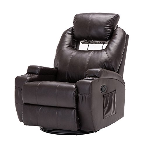 MSG Massage Recliner Leather Sofa Chair Ergonomic Lounge Swivel Heated with Control Brown  sc 1 st  Amazon.com & Recliner Swivel Chairs: Amazon.com islam-shia.org