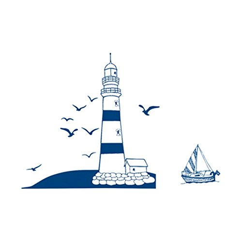 Wall Decals Blue Lighthouse PVC Wall Stickers - 5
