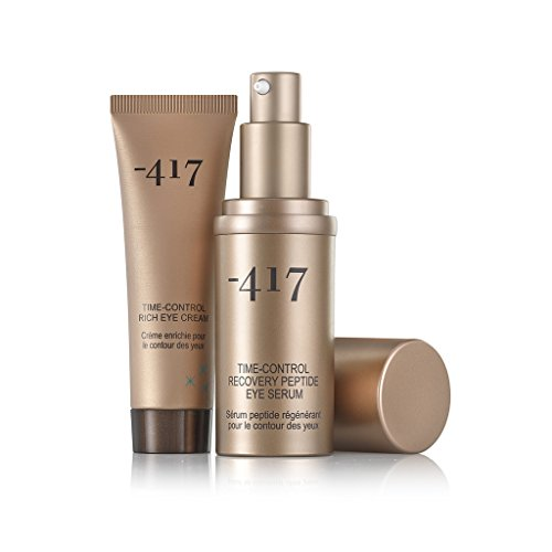 -417 Dead Sea Cosmetics Time Control - Rich Eye Cream + Recovery Peptide Eye Serum by -417