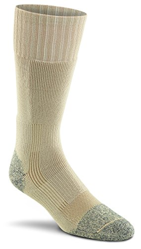 Military Wick Dry Maximum Mid Calf Boot Sock (2 Pack - Large, SAND)