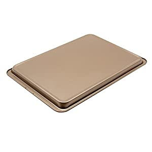"Plataplus Nonstick Rectangle Cookie Sheet Pan Bakeware 14.5""x10"" Glod"