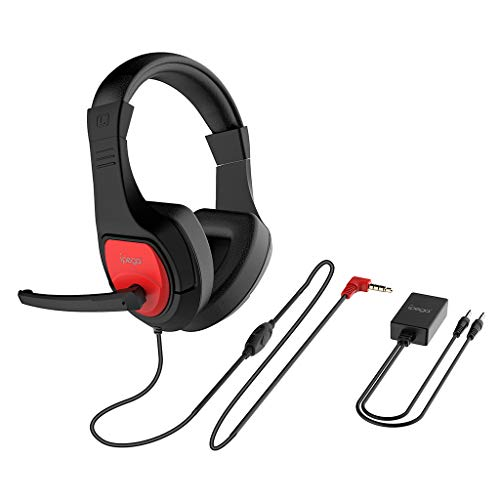 Uplord Head Earpiece,Gaming Headset 3.5mm Wired Bass Stereo Noise Isolation with Mic Audio Converter,High Sensitivity Noise Reduction Microphone