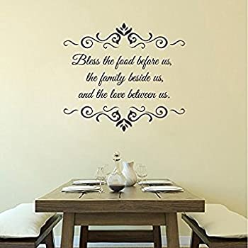 Perfect Wall Decal Decor Bless The Food Before Us Wall Decal   Dining Room Vinyl  Lettering