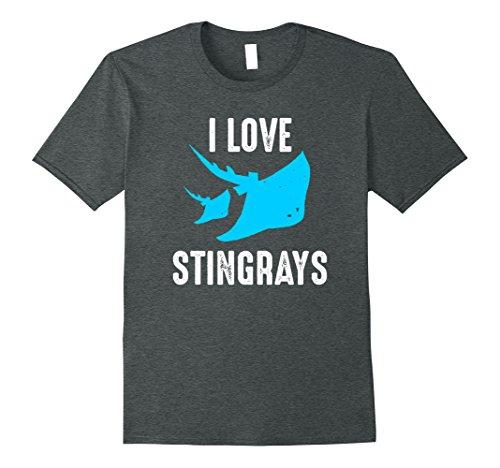 Stingray Animal Costume (Mens CUTE I LOVE STINGRAYS T-SHIRT Funny Zoo and Animal Gift Tee XL Dark Heather)