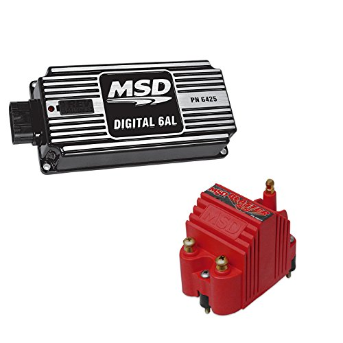 - MSD 64253-K1 Ignition Kit Digital 6AL Box Blaster SS High Voltage Coil